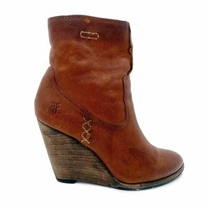 Frye Cece Artisan Short Wedge Ankle Boots
